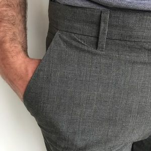 Men's Paid Gray Dress Pants